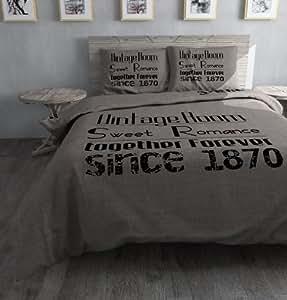 sleeptime housse de couette vintage room 200x200 220. Black Bedroom Furniture Sets. Home Design Ideas