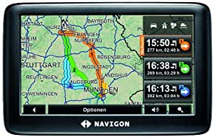 NAVIGON 3300max Navigationssystem (10,9 cm (4,3 Zoll) Display, D/A/CH, TMC, NAVIGON MyRoutes, Reality View Light, Clever Parking)
