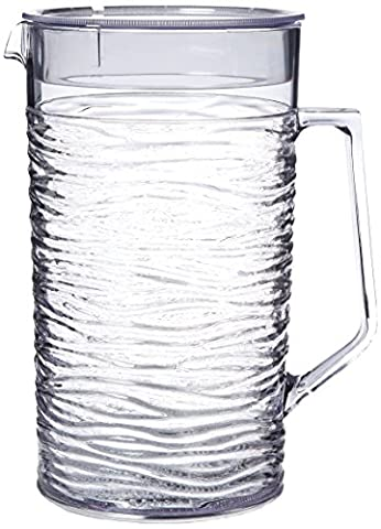 Service Ideas SI2LITCL Pitcher with Lid, 2 L, Clear