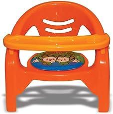 Akshat 2 in 1 Baby Premium toon Chair in red (Orange)