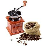 37YIMU - Clásico Portátil Molido Manual Café Bean Molinillo Retro Café Spice Mini Burr Mill con Piedra de Molino de Cerámica con Alta Calidad