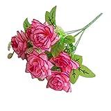 uyhghjhb 1Bouquet 7Branches Rose Artificielle Faux Flower Garden Home Décoration de Chambre