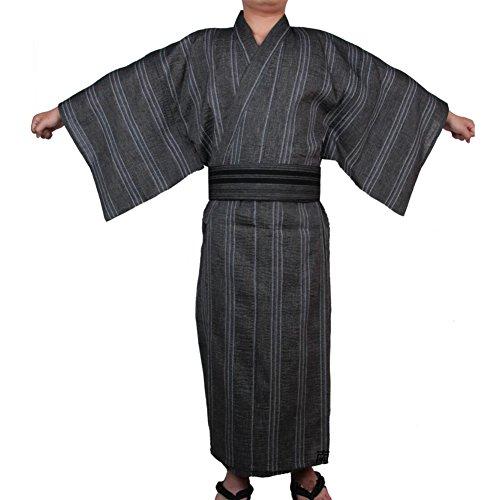 Jinbei Männer japanische Yukata japanische Kimono Home Robe Pyjamas Morgenmantel # 08 [Größe L] -