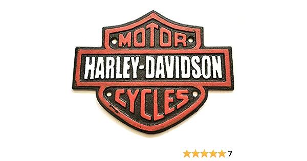 N A Assorted Collections Harley Davidson Schild Gusseisen Werbung Garage Man Cave Motorrad Wandschild Küche Haushalt