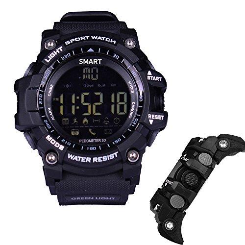 iMusk EX16 Smart Watch Men Sport Watch 5ATM Waterproof Bluetooth 4.0 SmartWatch Pedometer Call reminder...
