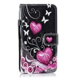 XHC PU Leather Case Cover Little Peach Heart Pattern