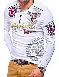 MT Styles T-shirt à manches longues MANHATTAN col en V MV-473