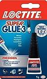 Loctite Super Glue-3 Précision, colle forte pour réparations précises, colle liquide tous matériaux, colle transparente à séchage rapide, flacon 5 g