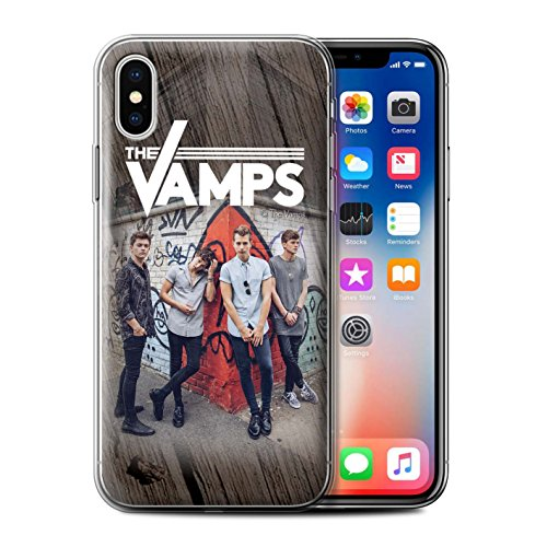 Offiziell The Vamps Hülle / Gel TPU Case für Apple iPhone X/10 / Pack 6pcs Muster / The Vamps Fotoshoot Kollektion Holz-Effekt