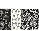 Doodle Set of 3 Curious Case Diaries, Soft Paper Cover Notebooks (6.25 X 4.75 Inches) (Multi-Colour)