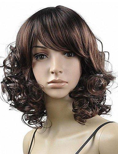 Praktische Mode Perücken europäisches Haar Mittelbindung geschweiften synthetische Perücken kompletten ()