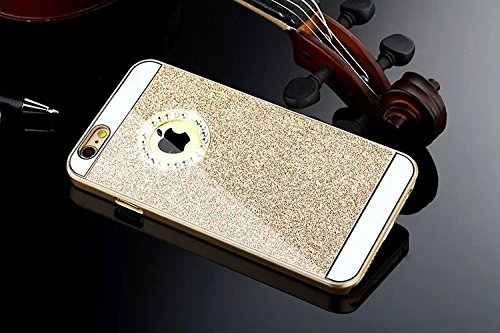 Coque Rigide pour Iphone 7 , Diamant , brillant , strass ,paillette , or Brillant or