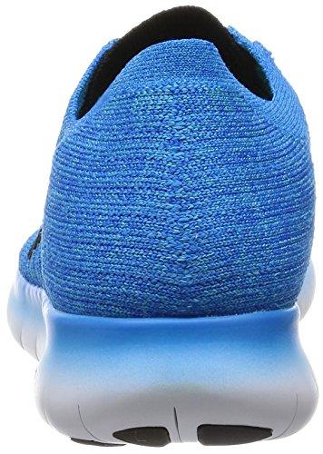 Nike Free Rn Flyknit, Chaussures de Running Entrainement Homme Bleu (bleu photo / noir - bleu gamma - orange total)