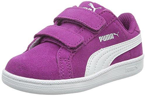 Puma Smash Fun Sd V, Baskets Basses Mixte Enfant Violet - Violett (Hollyhock-puma White 03)