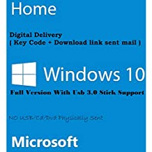 Microsoft Windows 10 Edition Famille – Système d'exploitation 32/64bits – Version complète - Clé USB 3.0