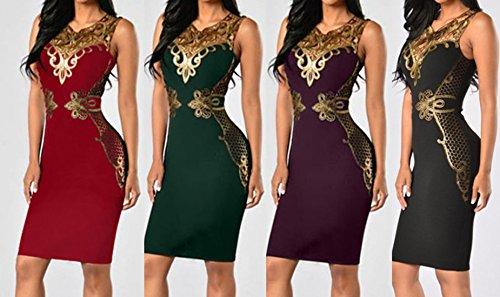 Cocktail Vestito Abiti Dress Sexy V Collo Moda Sottile Stampato Vestiti Bodycon Donna Abito Viola