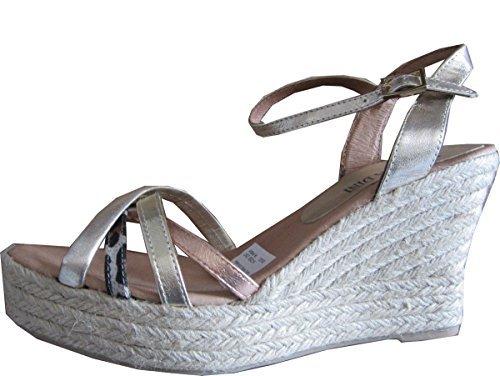 Sandalette Sandales compensées Femmes en cuir de Patrizia Dini Or
