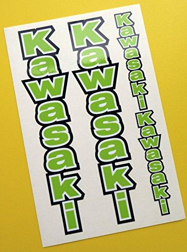 Preisvergleich Produktbild KAWASAKI optik GRÜN Motorrad Gabel Aufkleber Sticker