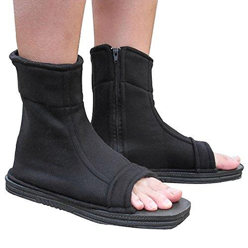Naruto Uchiha Sasuke Haruno Sakura Ninja cosplay negro zapatos sandali
