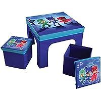 Unbekannt Fun House pyjamsques Tisch mit 2Barhocker Faltbare Aufbewahrungsbox für Kinder, MDF/Vlies, 52x 52x 15cm - preisvergleich