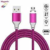 Magnetische USB Micro Cable superior ZRL® robuste Nylon-Kabel (1M, 2M, 3M) USB 2.0 ein männlich zu Micro B Sync und Ladekabel für Samsung, HTC, Huawei, Motorola, Nokia, Android und vieles mehr