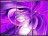 3 Tlg Leinwandbilder Wanduhr Lila Flüssigmetall Wandbild Leinwand Bild Restaurant Büro Hotel Wohnzimmer Universität Heim Uhr 111x80 Lwb539