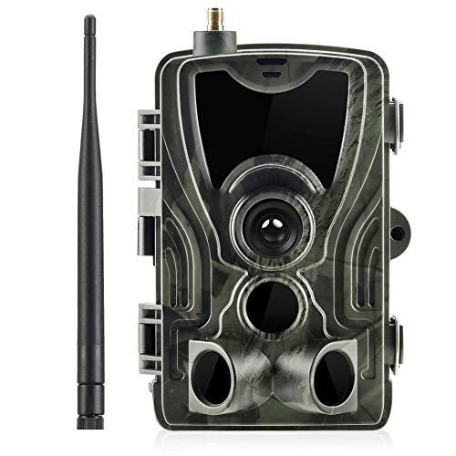 BFZJ Cámara de Pista de Caza HC801M, 16MP 1080P Cámaras de Infrarrojos de Vida Silvestre SMS 2G MMS Trampa fotográfica Vigilancia Cámaras de visión Nocturna, IP65 a Prueba de Agua