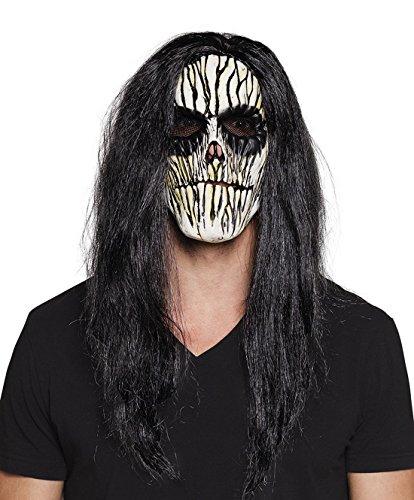 een Kostüm Latex Horror Maske Vodoo mit Haaren Erwachsenen Maske, Mehrfarbig (Halloween-maske Lustige Finger)