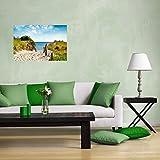 Wallario selbstklebendes Poster – Auf dem Sandweg zum Strand in Premiumqualität, Größe: 61 x 91,5 cm (Maxiposter) - 3