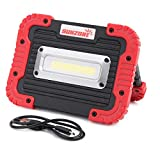 SUNZONE Outdoor LED Work Light with USB Flood Light with Rechargeable Battery for Camping Fishing and More (red)