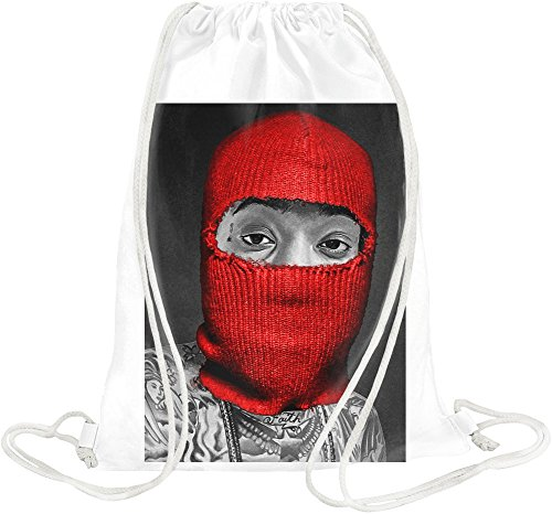 Wiz Khalifa Rote Maske Weed Dope Swag Thug Red Mask Weed Dope Swag Thug Gym Travel Drawstring Sack Printed Bags By
