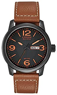 Citizen Men's Eco-Drive Watch with Black Dail Analogue Display and Brown Leather Strap BM8475-26E (B005MKGOOY) | Amazon Products