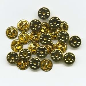 25 neue goldene verschl sse butterfly clips f r badge pin pins anstecker auto. Black Bedroom Furniture Sets. Home Design Ideas