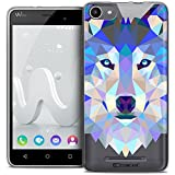 Caseink - Coque Housse Etui pour Wiko Jerry [Crystal Gel HD Polygon Series Animal -...