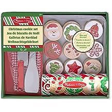 Melissa & Doug 15158 - Juego para rebanar y hornear galletas de navidad, de madera