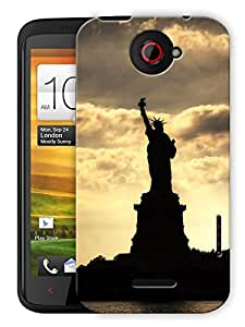 "Ulta Anda Statue Of Liberty - New York Printed Designer Mobile Back Cover For ""HTC ONE X"" (3D, Matte Finish, Premium Quality, Protective Snap On Slim Hard Phone Case, Multi Color)"
