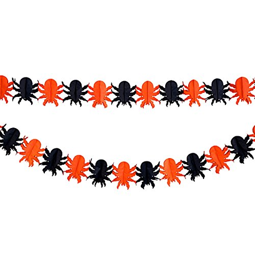 inne, Halloween Party Deko Girlande, Moon mood® Halloween Szene Layout-Dekoration Banner Props Scene Layout Decoration Props Banner Color bar 3 Meters Long Garland For Party Light Partei Licht-Spider (Zombie Baby Halloween Prop)