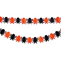 Moon mood® Halloween Ragno Scene di layout Decorazione Banner Props Scene Layout Decoration Props Banner Color bar 3 Meters Long Garland For Party Light Luce del Partito-Spider