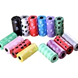 Exito Poop Pickup Bags for Dogs, Cats and Other Pets, Extra Thick and Strong Leak-Proof Pet Waste Pickup Bags, 5 Rolls - 15 Doggy Bags Per Roll, Multicolor