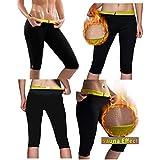 Hot Shaper Pants for Women Weight Loss Workout Leggings Easy Slim Hot Yoga Capri Thigh Belly Fat Burner Waist Trainer Black