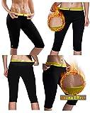 #5: Hot Shaper Pants for Women Weight Loss Workout Leggings Easy Slim Hot Yoga Capri Thigh Belly Fat Burner Waist Trainer Black