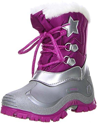 Spirale Kinder Mädchen Winterstiefel Snowboots Cadmium Nickel Blei Frei Fuxia/Pink, Farbe:Pink, Größe:27