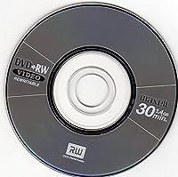 10x Maxell Blank Mini 8CM DVD+RW Rewritable Disc Metallic Grey (4x 30min 1.4GB)