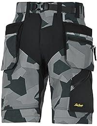 Snickers Workwear 6904 FlexiWork Arbeitsshorts mit Holstertaschen, 1 Stück, 62, camouflage-grau, 69048704062