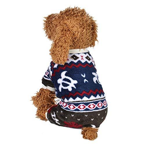 OHQ Weich Hundekleidung-Hemd Klassische Weste Gestreiftes T-Shirt Haustier-Kleidung Baumwollkleid für Kleine Hunde