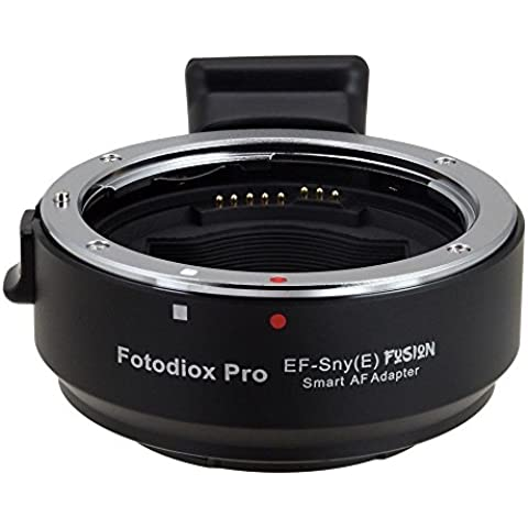 Fotodiox Adaptador de objetivo Mount Pro–EF de SNY (S) Fusion–Smart AF Lens Mount Adapter For Canon EOS (EF/EF-S) Mount Lens to Sony Alpha E Mount Camera (APS de c & Full Frame Such AS NEX-5, NEX-7& A7, A7R, A7S)–Automatic Lens Mount Adapter with full Automated