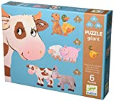 Djeco - 07111 - Puzzle Geant - Paquerette Et Ses Amis - 6 Pieces