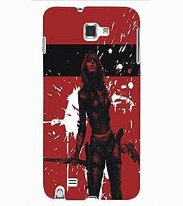 ColourCraft Warrior Girl Design Back Case Cover for SAMSUNG GALAXY NOTE 1