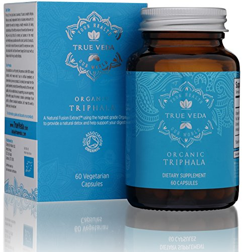 Organic Triphala Veggie Capsules - Certified Organic by Soil Association | 100% Natural Herbal Supplement | Supports Healthy Digestion | Natural Antioxidant | Ayurveda | 60 Easy Swallow Vegetarian Pills Test