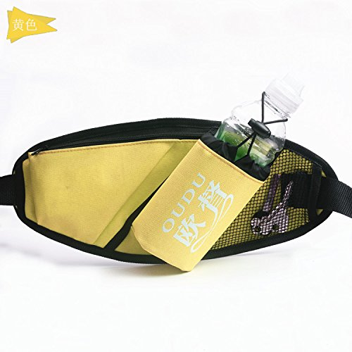 KANG@ Sport Taille Pack Multifunktions Running Männer und Frauen Outdoor Handy Tasche Anti-Diebstahl intime Stealth wasserdicht Beutel Gelb